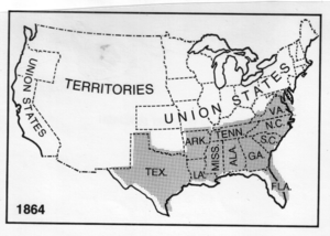 rudimentary map of the Confederate States of A...