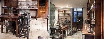 Royal Institution. Faraday Museum. Faraday's original 1850s laboratory