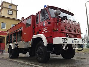 English: A firetruck from city of Żory, Poland...