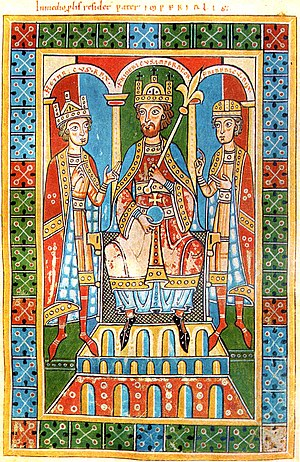 Frederic I Barbarossa and his sons King Henry ...