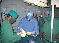 An eye operation at one of the NOOR teaching hospitals.
