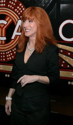 Kathy Griffin, before her performance at the h...
