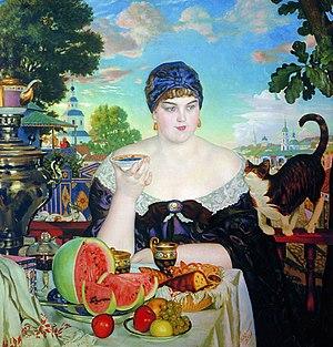 The Merchant's Wife by Boris Kustodiev, showca...