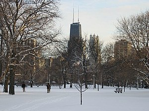 Lincoln Park during the winter.