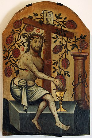 Jesus Christ of eucharist - an icon, Historic ...