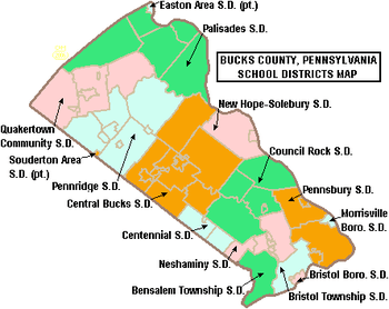 Map of Bucks County, Pennsylvania, United Stat...