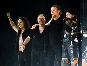 Metallica live at The O2 Arena, London, England