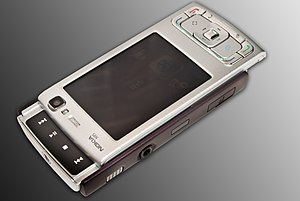 Image showing the Nokia N95's dedicated media ...