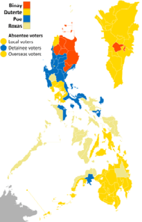 2016 Philippine electoral vote results