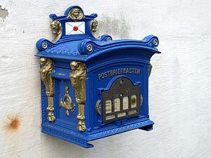 Deutsch: Warburg, Briefkasten am Museum am Stern