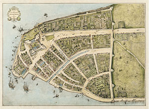 Map of Manhattan in 1660, based on the Castell...