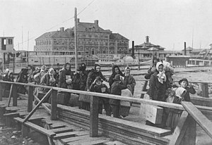 Immigrants arriving at Ellis Island, 1902