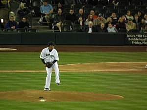 Félix Hernández (#34) of the Seattle Mariners ...