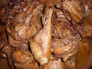 Homemade Filipino chicken adobo