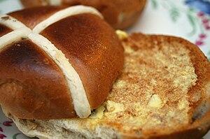 Hot cross buns for Easter.