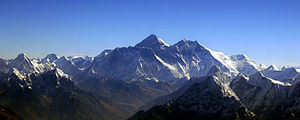English: Aerial view of Everest. Picture taken...