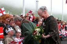Queen Margrethe II in Vágur, Faroe Islands, 21 June 2005