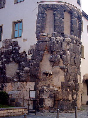 The remains of the East Tower of Porta Praetor...