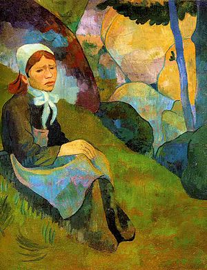 Français : Solitude de Paul Sérusier, 1891, hu...
