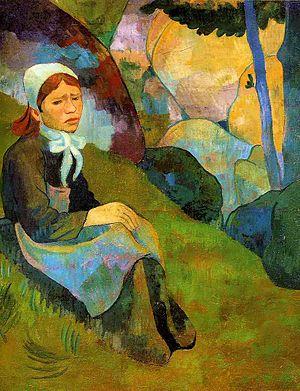 Français : Solitude de Paul Sérusier, 1891, hu...