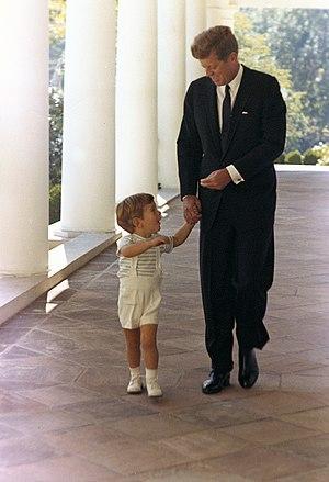 John F. Kennedy and John F. Kennedy, Jr. at th...
