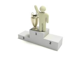Victory podium