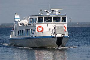 Passenger ship Wittus in the Karlskrona archip...