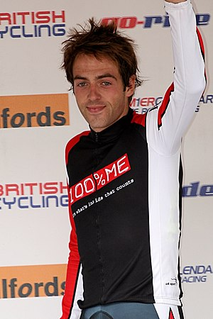 English: Alex Dowsett after winning the 2009 R...
