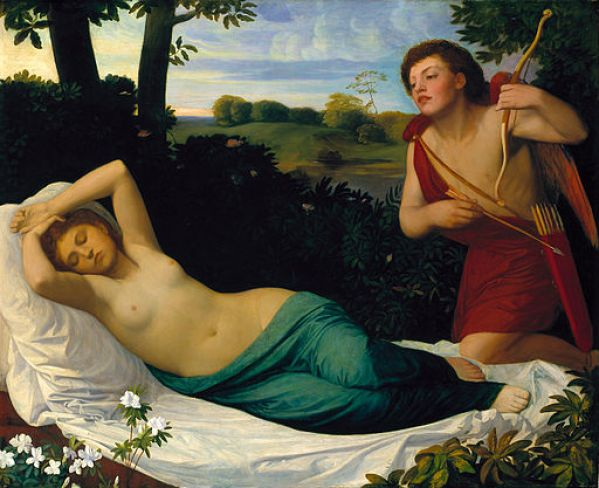 """""""Amor and Psyche"""" by Alphonse Legros"""