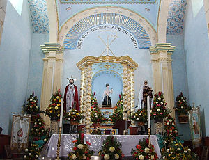 Altar San Nicolas Tolentino Terrenate