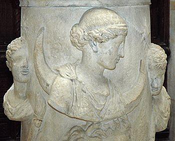 The Moon-goddess Selene accompanied by the Dio...