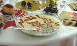 Rice pudding (Portuguese style), at home (pict...