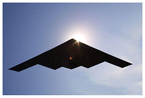 B-2 Bomber in flight