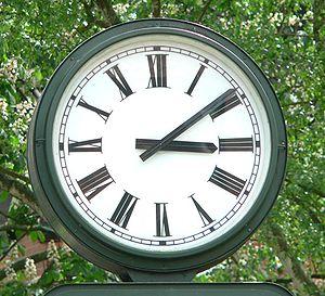 Clock in Bad Salzdetfurth, Germany, Badenburge...