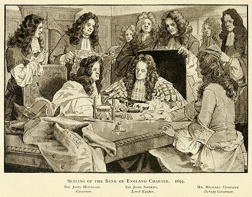 Bank of England Charter sealing 1694