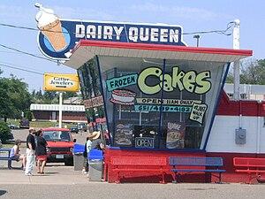 """English: Dairy Queen """"restaurant."""" R..."""
