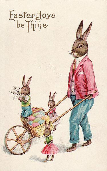 File:Easter Bunny Postcard 1915 Stecher.jpg