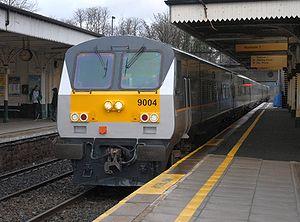 1230 Belfast to Dublin Enterprise train passes...
