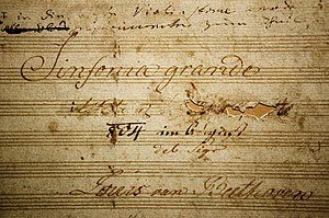 The Eroica Symphony Title Page, showing where ...