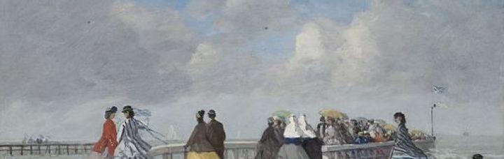 Eugène Boudin - L'embarcadère à Trouville