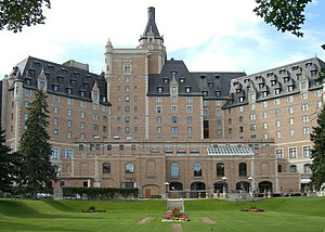 Rear view of Hotel Bessborough with horizontal...