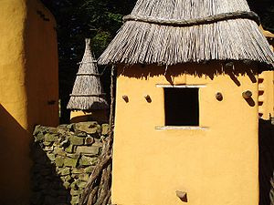 Dogon cob houses in Mali.