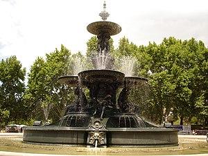 English: The Fuente de los continentes, placed...