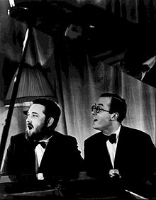 Michael Flanders and Donald Swann 1966.JPG