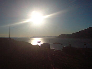 The midnight sun in Longyearbyen