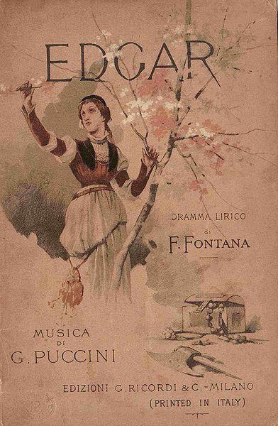 Giovanni Zuccarelli - Portada del libreto de Edgar de Puccini (Wikimedia Commons)