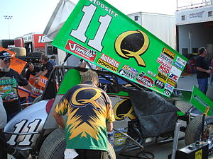 Steve Kinser 2007 World of Outlaws sprint car ...