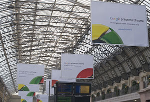 Affiches publicité Google Chrome
