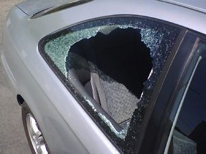 A car that has been burglarized. Bad for me, g...