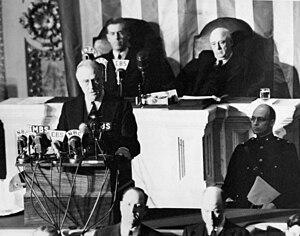 English: President Franklin Delano Roosevelt d...